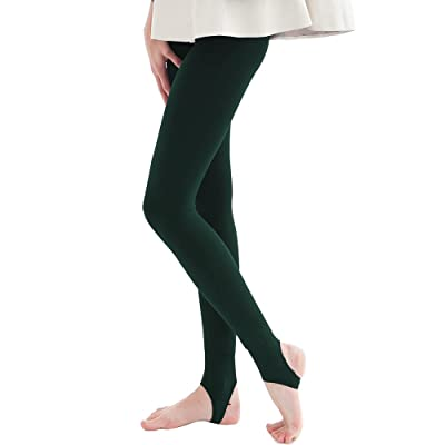 Thermal Tights for Women Opaque Fleece Lined Leggings Thick Warm Footies Tights Stirrup Leggings Winter Bottoms Tights Leggings for Ladies UK Size 6-16