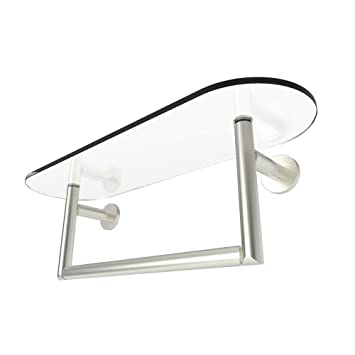 glass shelf with towel bar 18. motiv 0219t-18/sn sine tempered glass shelf towel bar with 18