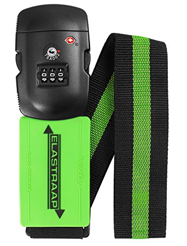 Luggage Strap ELASTRAAP Superior Strength NON-SLIP with TSA Combination Lock - Tsa Locking Luggage Strap