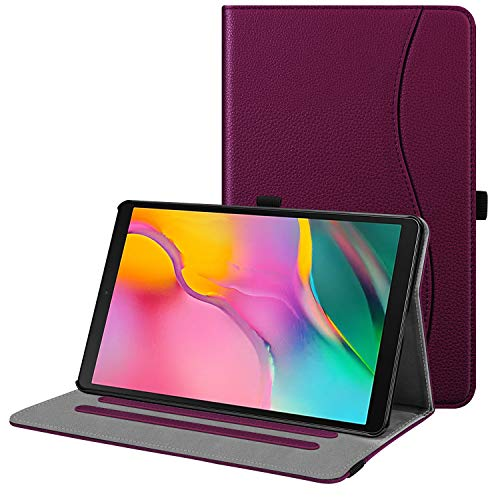 Fintie Case for Samsung Galaxy Tab A 10.1 2019 Model SM-T510(Wi-Fi) SM-T515(LTE) SM-T517(Sprint), Multi-Angle Viewing Stand Cover with Pocket, Purple