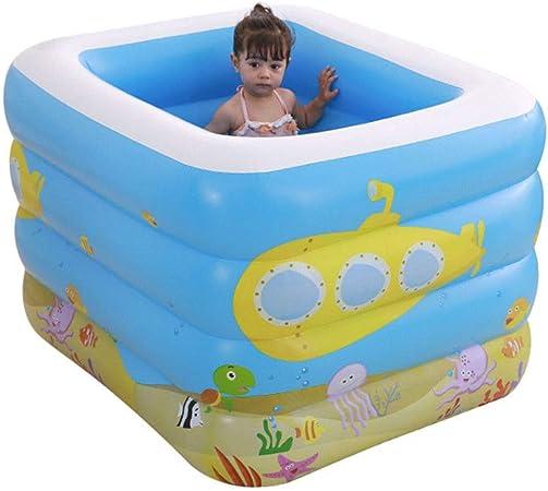 HEROTIGH Piscinas Hinchables Bebé Familia Inflable Niño Ampliado Piscina Termal Cuatro Anillos Piscina Cuadrada 115X95X75 Inflatable Pool: Amazon.es: Hogar