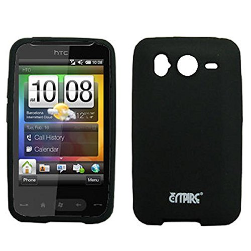 EMPIRE Noir Silicone Skin Cover Couverture Case Étui Coque for AT&T HTC Inspire 4G