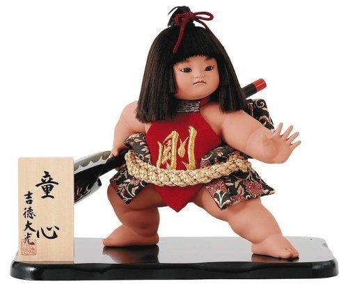 吉徳大光 五月人形 飾り 金太郎人形 童心10号 剛 間口51×奥行38×高さ50(cm) 02-503-252 B00ARBIKV8