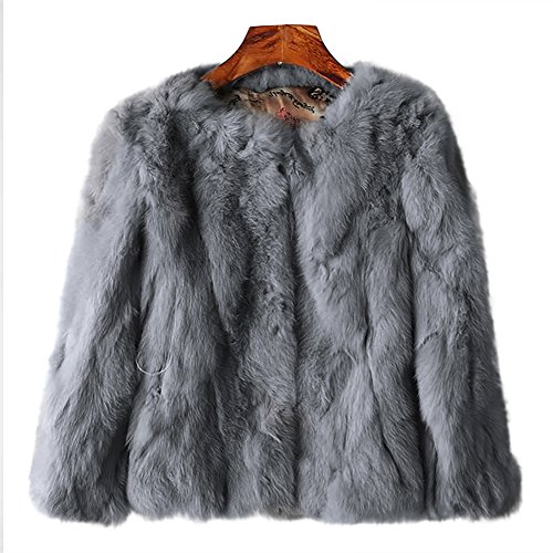 Used, MINGCHUAN Genuine Rabbit Fur Coat Women's Fluffy Fur for sale  Delivered anywhere in Canada