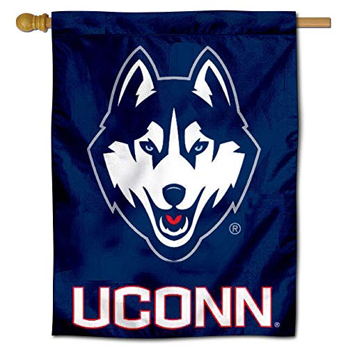 College Flags and Banners Co. Uconn Huskies House Flag ()