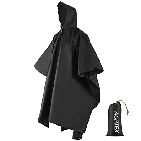 Camp Sleeping Gear 3 In 1 Multifunctional Raincoat Outdoor Travel Rain Poncho Rain Cover Waterproof Tent Awning Camping Hiking Sleeping Bag Hot Sleeping Bags