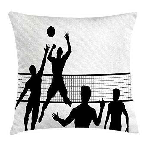 Voleibol manta almohada Funda para cojín, de silueta de un ...