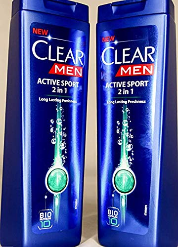 Clear Shampoo New Formula Active Sport 2 in1 Long Lasting Freshness 400Ml/13.52Oz(Active Sport 2 in1, - Shampoo Dandruff Clear