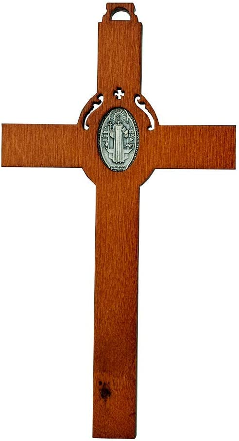 Benedict Cross Crucifix with Inlaid St Vatican imports St Benedict Medal
