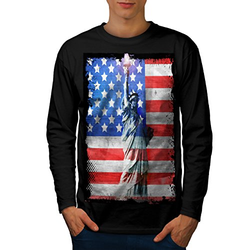 Statue Of Liberty Men NEW L Long Sleeve T-shirt | Wellcoda