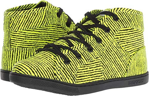 Dezzys Baby Girl's Myakin (Toddler/Little Kid/Big Kid) Neon Yellow Stripe 4 M US Big Kid