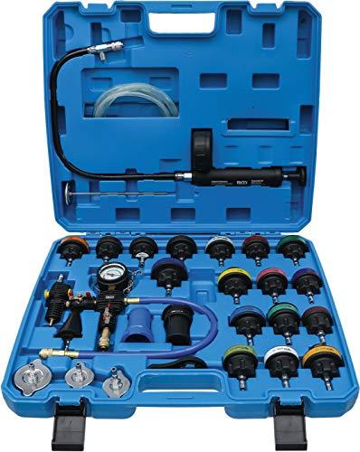BGS 8098 | Test de presión del radiador incl. sistema de llenado | 28 piezas