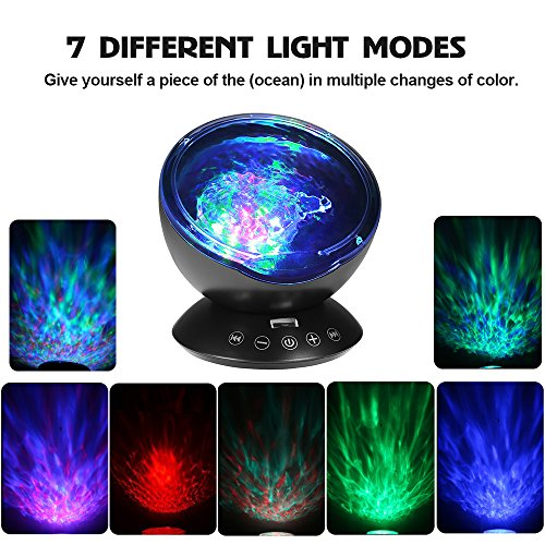 [Newest Design] Remote Control Ocean Wave Projector 12 LED