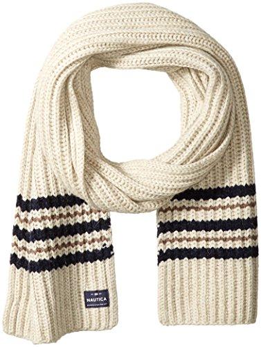 Nautica Men's Striped Scarf, Sandy Heather Multi, One - Matchy Matchy Fashion