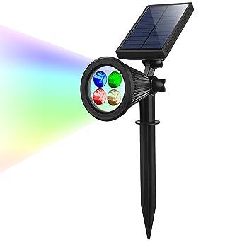 Solaire Spot Eclairage 4 LED rgb Projecteur énergie Solaire ...