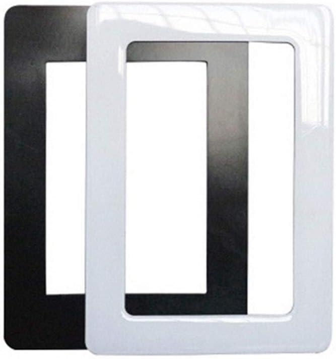 Black 10 inch IRICEYE Home Decoration,Mini Rectangle Magnetic Fridge Refrigerator Magnet Picture Photo Frame DIY Decor