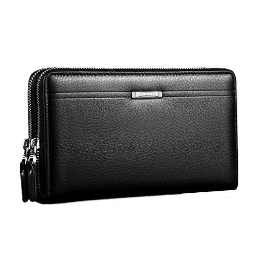Slim Case Pocket Card Men Handbag Black Purse Coin Front Wallet Billfold BININBOX q4pAnR