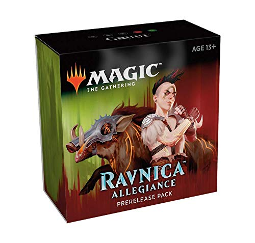 Magic The Gathering: Ravnica Allegiance Prerelease Pack Gruul (Pre-Pelease Promo + 6 Boosters + d20 Spindown Counter) - Magic Ravnica Mtg
