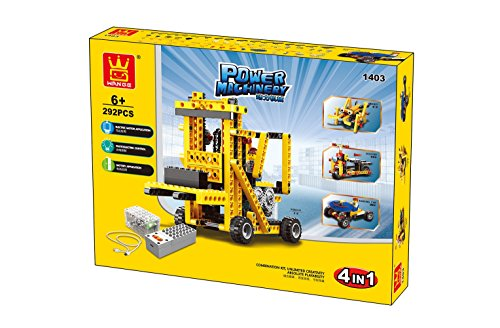 Wange Power Machinery With Motor 4-in-1 Building Block Set - 1