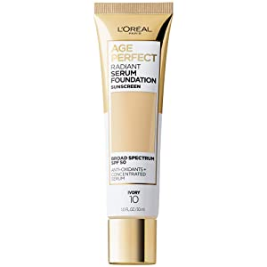 L'Oreal Paris Age Perfect Radiant Serum Foundation with SPF 50, Ivory, 1 Ounce
