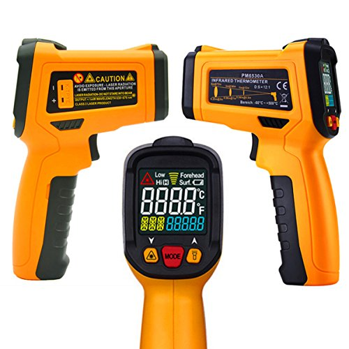 Price comparison product image Temperature Gun, Digital Infrared Non-Contact Thermometer,  Digital Laser IR Thermometer With 12 Point Aperture Temperature Alarm Function -50~300(-58~572), LCD Instant-read Handheld