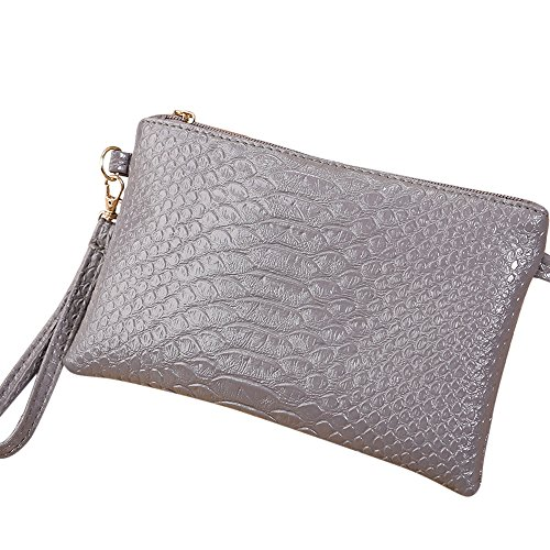 Small Shoulder Ladies Bag Fashion Tote ~B Purse ZOMUSA Women Crocodile Pattern Clearance Gray Handbag aCqY8xwFv