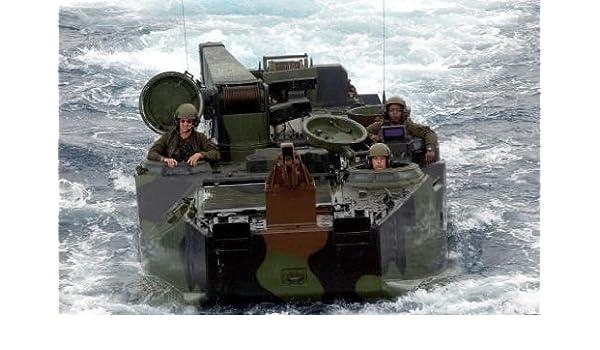 USMC 12X18 Photograph AAV7A1 US Marine Corps Amphibious Assault Vehicles