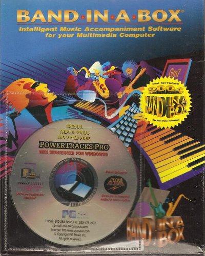 Band in a Box: Intelligent Music Accompaniment Software for Your Multimedia Computer. For Windows with Power Tracks Pro Midi Sequencer for Windows, 2004