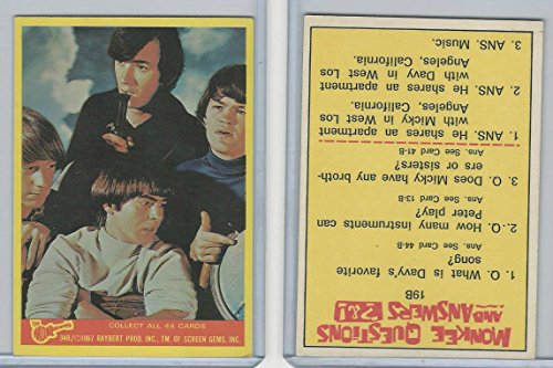 1967 Donruss, The Monkees, Color Series B, 34B