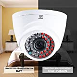 "JZTEK 1/3"" CMOS 720P 1.0MP CCTV Home Surveillance 3.6mm Lens Wide Angle 36 Led Indoor Dome Security Camera with IR Cut-85ft Night Vision Distance, Plastic Housing White"