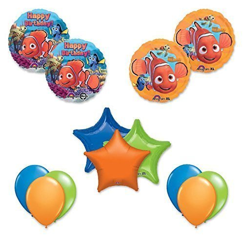 Finding Nemo 13 pc Birthday Party Balloon Decoration Kit (Finding Nemo Birthday Party Decorations)
