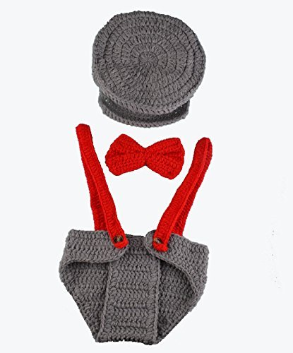 Newborn Baby Boys Girls Handmade Crochet Knitted Photography Props Outfit