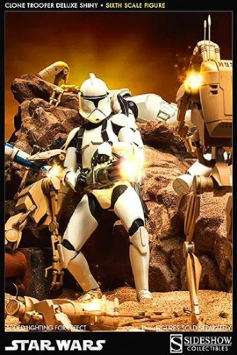 Sideshow Star Wars The Clone Wars Militaries of Star Wars Clone Trooper Deluxe Shiny 1/6 Scale 12 Figure