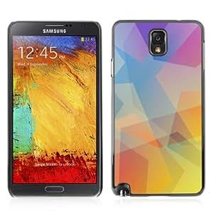 YOYOSHOP [Cool Polygon Pastel Tones] Samsung Galaxy Note 3 Case