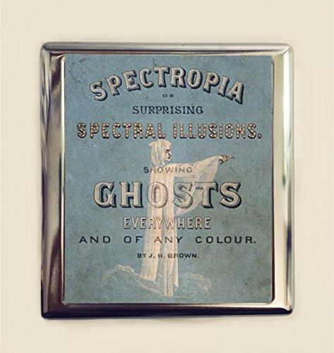 Victorian Ghost Book Cigarette Case Business Card ID Holder Wallet Ghosts Spiritualism Spirit Occult ()