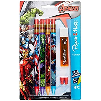 Papermate Marvel Avengers Mechanical Pencils-10 Pack, Leads, Erasers delicate
