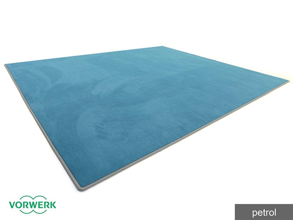 Laufgitter Einlage und Unterlage Vorwerk Bijou petrol HEVO® Teppich 180x180 cm