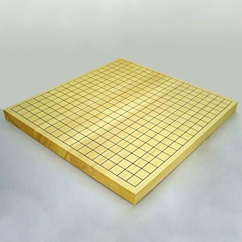 囲碁セット  ヒバ10号卓上接合碁盤と日向特製蛤碁石雪印22号と碁笥銘木大のセット