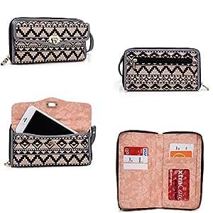 HTC One XL*SplaSh series* Cross Body wallet w/ extrerior phone pocket in orange PLUS Bonus Neviss Luggage Tag