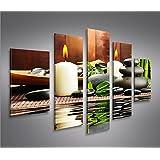 Zen Stones 5 Tableaux sur toile - Image Tableau pour la mur - prêts à poser
