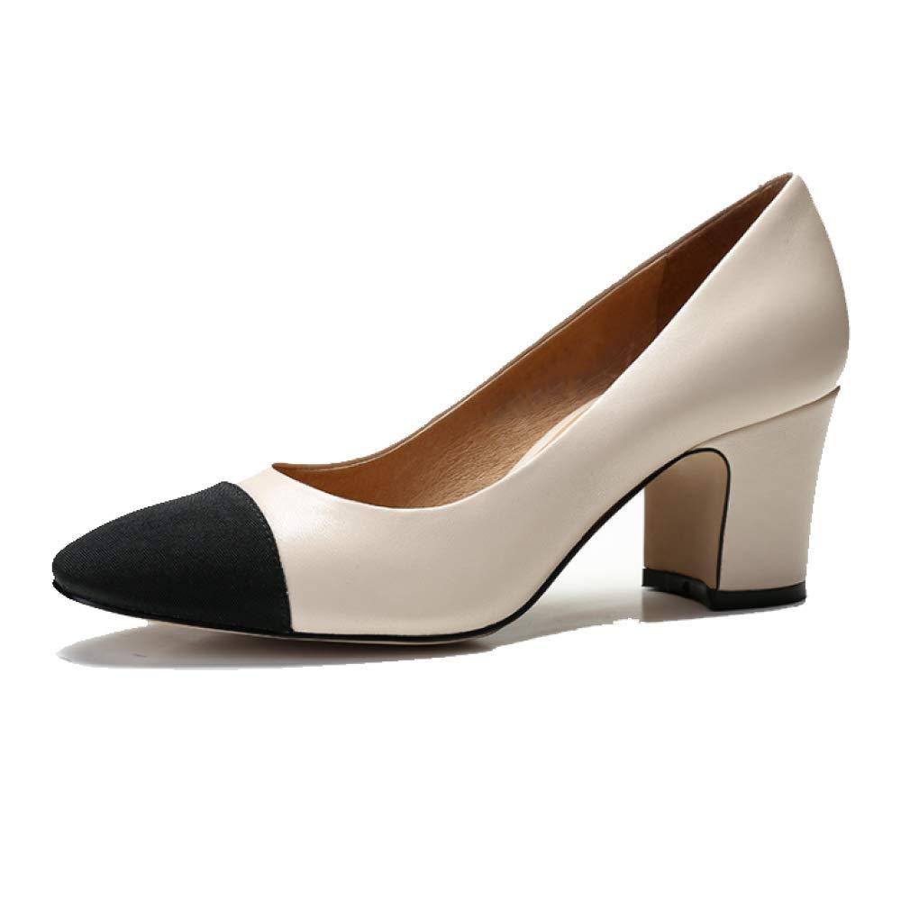 ZPEDY Chaussures Femme, Mode, Confort, 14226 Polyvalent, élégant, Basses, Chaussures Basses, Hauts Talons Hauts Beige f715354 - latesttechnology.space