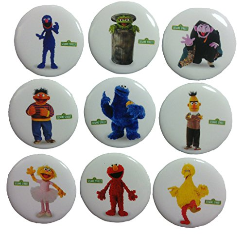 sesame-street-buttons-badges-9-pcs-set-1