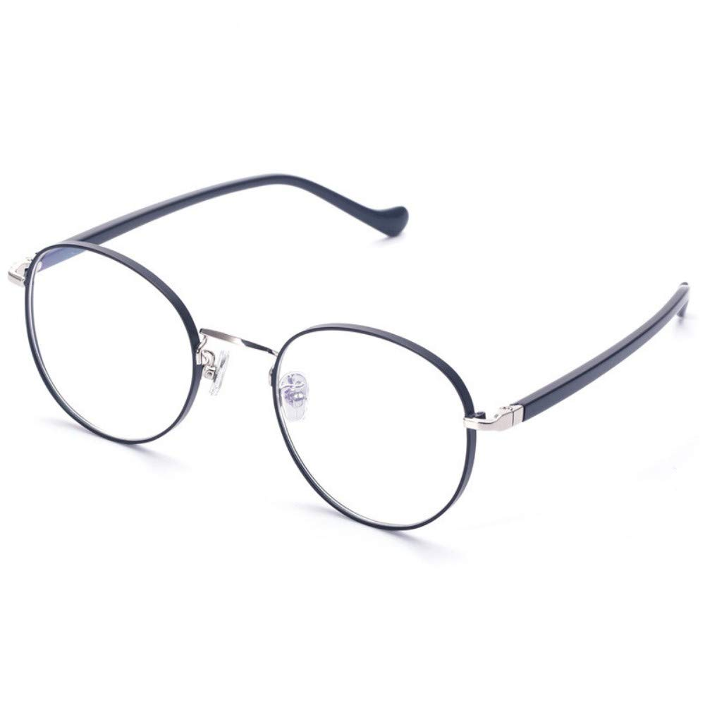 Girls literary anti-blue radiation glasses///goggles flat mirror no degree black silver