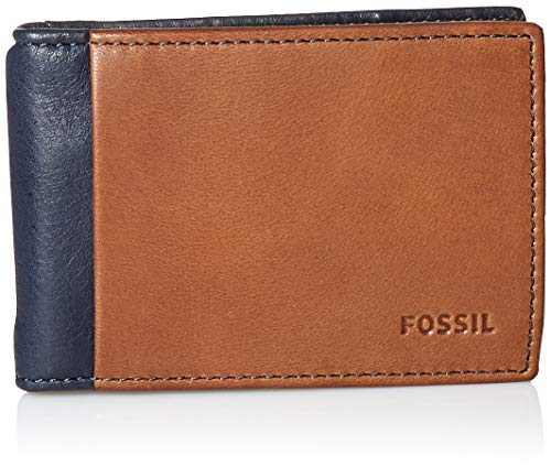(Fossil Men's Ward Leather RFID Blocking Money Clip Bifold)