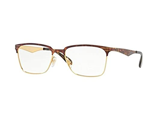 1306542399 Amazon.com  Ray-Ban Men s RX6344 Eyeglasses Gold Havana 54mm  Clothing