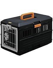 Iris Ohyama  Pet Carry FC-550 Boîte de Transport Pliable pour chien et chat Max 12 kg  , Plastique, Noir, 3,6 kg, 31,5 x 55 x 36,4 cm