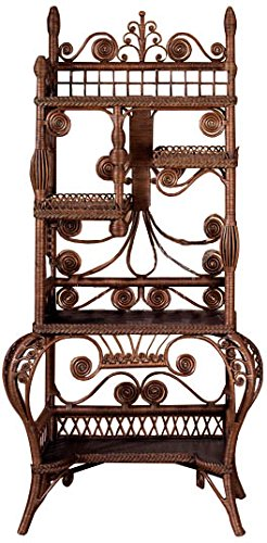 Spice Islands Fancy Cabinet, Brown Wash
