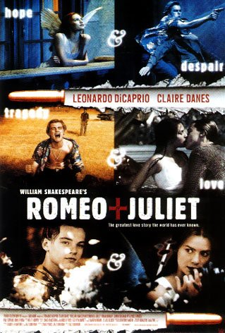 Romeo And Juliet (pictures) Huge Film PAPER POSTER measures approximately 100x70 cm Greatest Films Collection Directed by Baz Luhrmann. Starring Leonardo DiCaprio, Claire Danes, John Leguizamo. (Romeo And Juliet Directed By Baz Luhrmann)