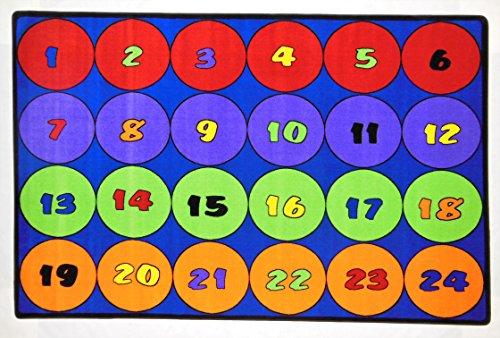 Kids World Carpets Machine-tufted Nylon 'Sitting Circles 24' Area Rug (8' x 12') (2010 Rug Area)
