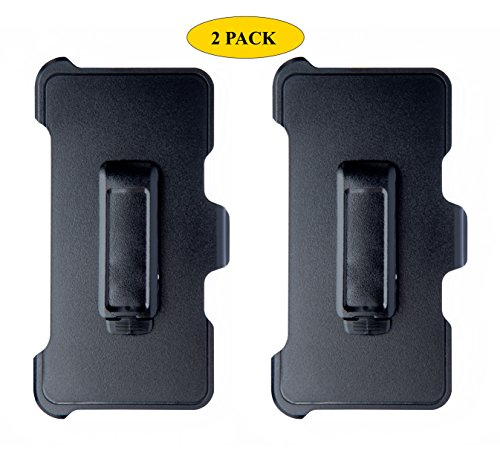 AlphaCell Holster Belt Clip Replacement Compatible with OtterBox Defender Series Case for Apple iPhone 5, iPhone 5S, iPhone SE (ONLY) - 2 Pack (Iphone Holster With Belt Clip)